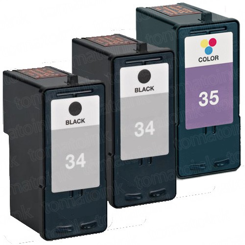 Lexmark #34 Black & #35 Color 3-pack Ink Cartridges