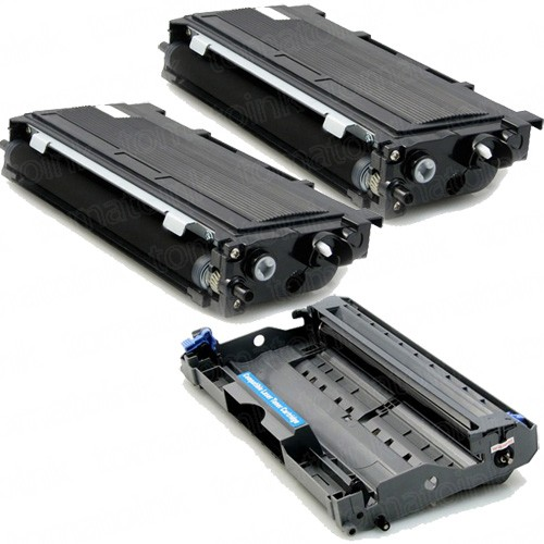 Brother TN350 Black Toner Cartridges & DR-350 Drum (3-pack)