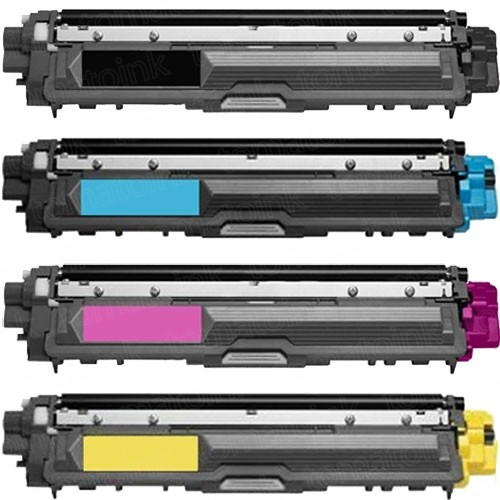 Brother TN221 Black & TN225 Color 4-pack HY Toner Cartridges