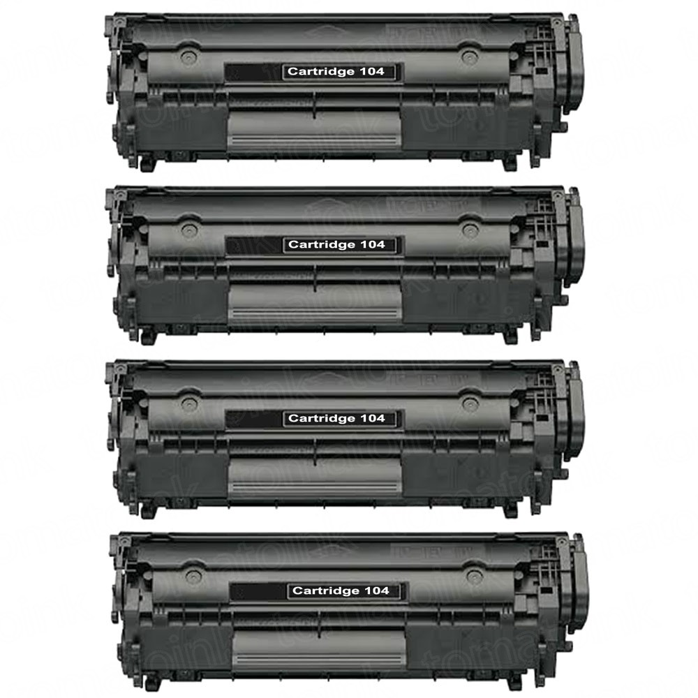 Canon 104 FX9 & FX10 (4-pack) Black Toner Cartridges