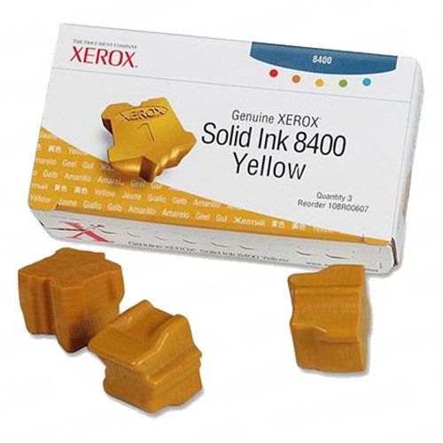 Xerox 108R00607 / Phaser 8400 OEM Yellow Solid Ink 3-pack Cartridge