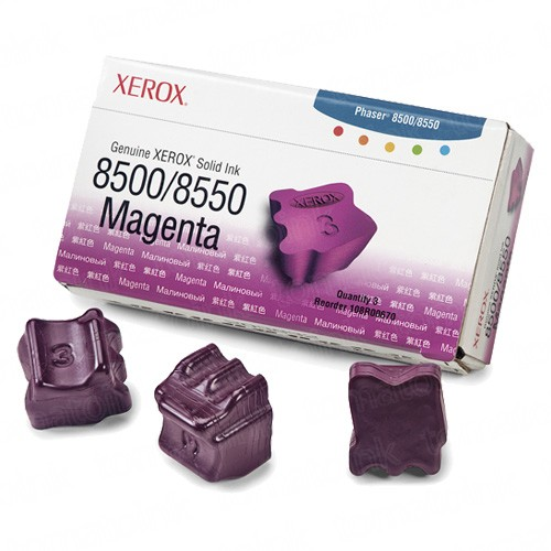 Xerox 108R00670 / Phaser 8500 OEM Magenta Ink 3-pack Cartridge