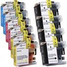 Brother LC107 & LC105 XXL Black & Color 10-pack Ink Cartridges