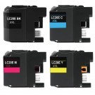 Brother LC20E Black & Color 4-pack High Yield Ink Cartridges