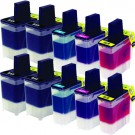 Brother LC41 Black & Color 10-pack Ink Cartridges