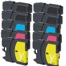 Brother LC65 Black & Color 10-pack High Yield Ink Cartridges
