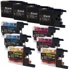 Brother LC79 Black & Color 10-pack Super High Yield Ink Cartridges