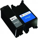 Dell (Series 21) Y498D Black & Y499D Color 2-pack Ink Cartridges