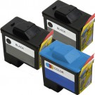 Dell (Series 1) T0529 Black & T0530 Color 3-pack Ink Cartridges