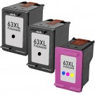 HP 63XL High Yield Black & Color 3-pack Ink Cartridges