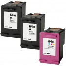 HP 64XL Combo Pack 3 Ink Cartridges