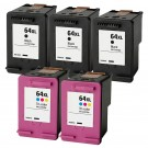HP 64XL Combo Pack 5 Ink Cartridges