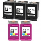 HP 65XL High Yield Black & Color 5-pack Ink Cartridges