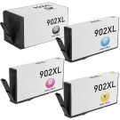 HP 902XL Black & Color 4-pack High Yield Ink Cartridges