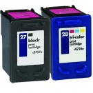HP 27 Black & HP 28 Color 2-pack Ink Cartridges