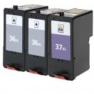 Lexmark #36XL Black & #37XL Color 3-pack HY Ink Cartridges
