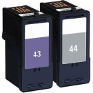 Lexmark #44XL Black & #43XL Color 2-pack HY Ink Cartridges