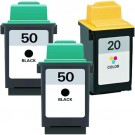 Lexmark #50 Black & #20 Color 3-pack Ink Cartridges