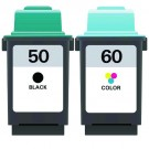 Lexmark #50 Black & #60 Color 2-pack Ink Cartridges