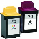 Lexmark #70 Black & #20 Color 2-pack Ink Cartridges