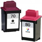 Lexmark #70 Black & #80 Color 2-pack Ink Cartridges