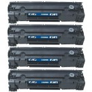 HP 85A (CE285A) 4-pack Black Toner Cartridges