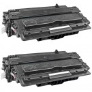 HP 14A (CF214A) 2-pack Black Toner Cartridges