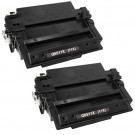 HP 11X (Q6511X) 2-pack High Yield Black Toner Cartridges