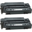 HP 51X (Q7551X) 2-pack High Yield Black Toner Cartridges
