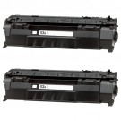HP 53A (Q7553A) 2-pack Black Toner Cartridges